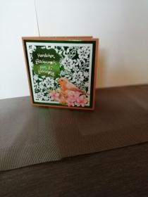 Geburtstagskarte zum 50.ten für eine Frau mit Vogelmotiv