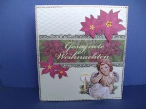 Weihnachtskarte besinnlich mit einem kleinen Engel - Handarbeit kaufen