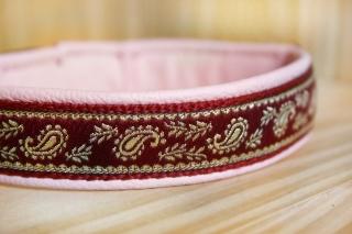 Hundehalsband (Kunststoff-Klickverschluss) Leder-Unterfütterung stufenlos verstellbar (Kopie id: 100093549)
