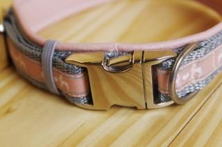Hundehalsband (Metallschließe) Leder-Unterfütterung stufenlos verstellbar  (Kopie id: 100093552)