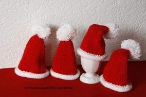 Weihnachts-Eierwärmer-Zipfelmütze, handgestrickt bei Paul & Paulinchen - Handarbeit kaufen