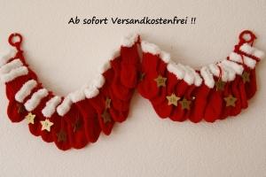 Adventskalender aus 24 kleinen Nikolaussöckchen Art. 7405, handgestrickt