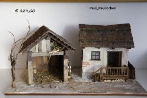 Weihnachtskrippe  bis ins kleinste Detail selbst angefertigt, Modell 5055,   bei Paul & Paulinchen  - Handarbeit kaufen