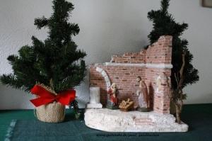 Weihnachtskrippe inkl.Figuren, bis ins kleinste Detail selbst angefertigt,  Modell 5058,   bei Paul & Paulinchen - Handarbeit kaufen