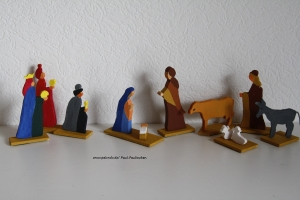 Krippenfiguren Laubsägearbeit, Größe ca. 10 cm, 100% Handarbeit, Artikel 6105 bei Paul & Paulinchen  - Handarbeit kaufen