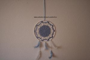 Traumfänger, Dreamcatcher, Wanddekoration blau-weiß Artikel 1002  bei Paul_Paulinchen  - Handarbeit kaufen