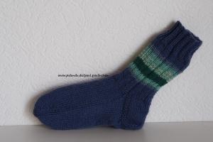 Kindersocken blau, Größe 26/27, für Jungen und Mädchen Artikel 4188 bei Paul & Paulinchen    - Handarbeit kaufen
