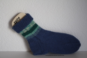 Kindersocken blau, Größe 28/29, für Jungen und Mädchen Artikel 4190 bei Paul & Paulinchen     - Handarbeit kaufen