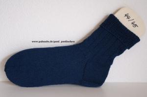 Herrensocken handgestrickt, Fb.:uni dunkelblau, Größe 44/45, Artikel 4229 bei Paul & Paulinchen