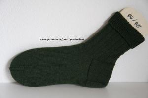 Herrensocken handgestrickt, Fb.grün, Größe 44/45, Artikel 4242  bei Paul & Paulinchen    - Handarbeit kaufen