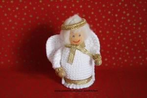 Weihnachtsengel  gehäkelt, Größe ca. 10 cm, 100% Handarbeit, Artikel 6107 bei Paul & Paulinchen  - Handarbeit kaufen