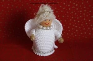 Weihnachtsengel  gehäkelt, Größe ca. 10 cm, 100% Handarbeit, Artikel 6108 bei Paul & Paulinchen  - Handarbeit kaufen