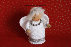 Weihnachtsengel  gehäkelt, Größe ca. 10 cm, 100% Handarbeit, Artikel 6109 bei Paul & Paulinchen   - Handarbeit kaufen