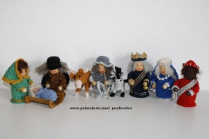 Krippenfiguren, Weihnachtsfiguren gehäkelt, Größe ca. 10 cm, 100% Handarbeit, Artikel 6111 bei Paul & Paulinchen  - Handarbeit kaufen