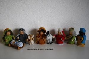 Krippenfiguren, Weihnachtsfiguren gehäkelt, Größe ca. 10 cm, 100% Handarbeit, Artikel 6112 bei Paul & Paulinchen  - Handarbeit kaufen