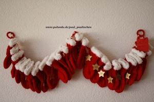 Adventskalender zum Befüllen aus 24 kleinen Nikolaussöckchen Art. 7500, handgestrickt bei Paul_Paulinchen  - Handarbeit kaufen