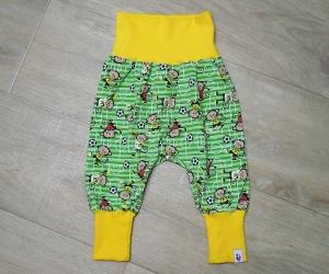 Pumphose mitwachsend, Gr. 62-74, Motiv: Maskottchen, Fußball, Farbe: Grün, MamiAktiv , Babysize - Handarbeit kaufen