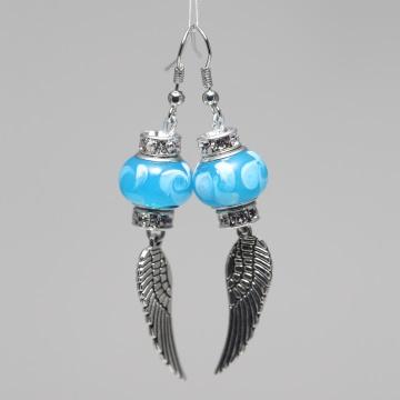 Ohrringe Ohrhänger Engelsflügel ♡ rot und blau ♡ Schmuck