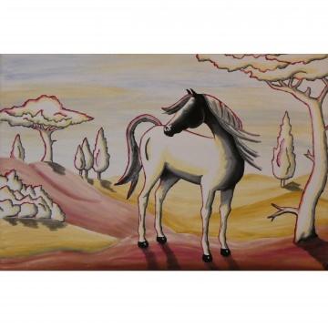 Acrylgemälde ♡ Pferd Fantasy ♡ auf Keilrahmen 40 x 60 ♡ Einzelstück