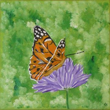 Acrylmalerei ☀ Schmetterling ☀ auf Keilrahmen 30 x 30 cm ☀ Einzelstück