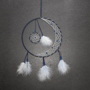 Wunderschöner besonderer Traumfänger ♡ dunkelblau ♡ ca. 30 cm