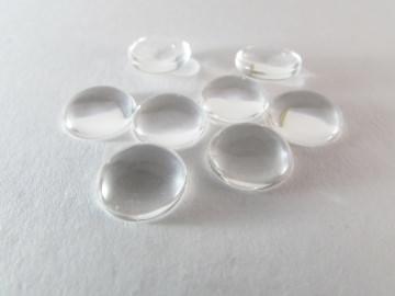 Glas Cabochons 12mm Klebefläche