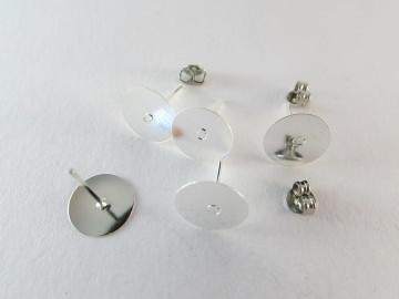 Ohrsteckerrohling silber 10mm Klebefläche