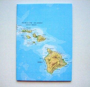 HAWAII Maui Holi ♥ schönes Notizbuch Landkarte *vintage*
