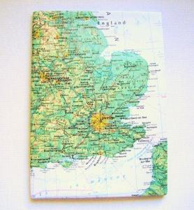 LONDON England ♥ schönes Notizbuch Landkarte *vintage*