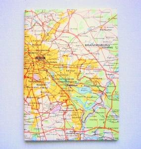 BERLIN Brandenburger Tor ♥ schönes Notizbuch *vintage*  - Handarbeit kaufen