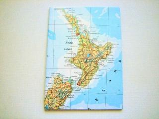 NEUSEELAND Nordinsel ♥ schönes Notizbuch Landkarte *vintage*