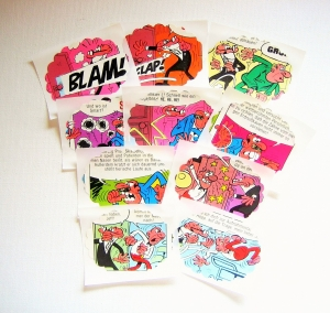 Aufkleber ♥ COMIC oval * upcycling pur * Sticker / Etiketten - Handarbeit kaufen