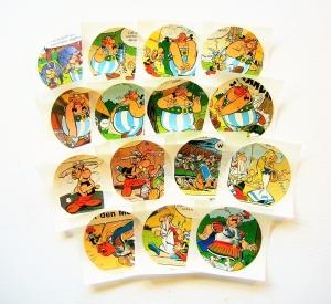 Aufkleber ♥ COMIC rund * upcycling pur * Sticker / Etiketten