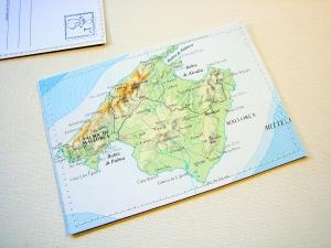 Tolle Postkarte MALLORCA ♥ Balearen *upcycling pur*