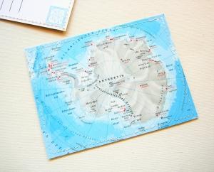 Tolle Postkarte ANTARKTIS ♥ Südpol *upcycling pur*