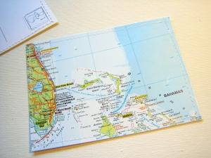 Tolle Postkarte FLORIDA und die BAHAMAS ♥ Miami *upcycling pur* - Handarbeit kaufen