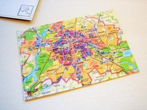 Tolle Postkarte BERLIN ♥ Brandenburger Tor *upcycling pur* - Handarbeit kaufen