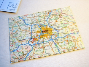 Tolle Postkarte BERLIN ♥ Hauptstadt *upcycling pur*