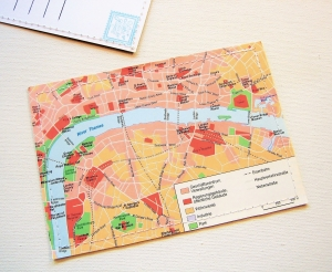 Tolle Postkarte LONDON Stadtplan ♥ England *upcycling pur*