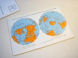 Tolle Postkarte SONNENFINSTERNIS von 1972 bis 1984 ♥ Weltall *upcycling pur* - Handarbeit kaufen