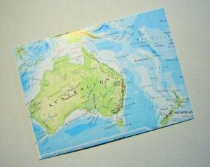 AUSTRALIEN Sydney ♥ toller Briefumschlag Landkarte *upcycling* - Handarbeit kaufen