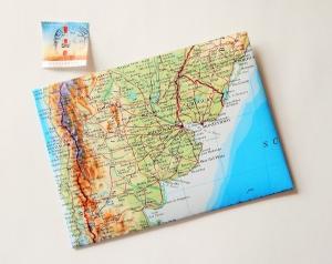 ARGENTINIEN Buenos Aires ♥ toller Briefumschlag Landkarte *upcycling* - Handarbeit kaufen