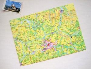 BERLIN und Umgebung ♥ toller Briefumschlag Landkarte *upcycling* - Handarbeit kaufen