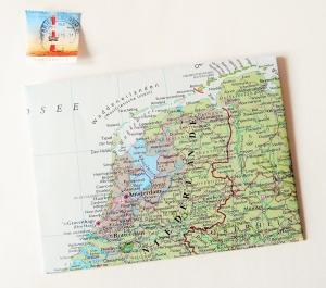 NIEDERLANDE Amsterdam ♥ toller Briefumschlag Landkarte *upcycling* - Handarbeit kaufen