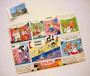 COMIC ♥ toller Briefumschlag *upcycling* - Handarbeit kaufen