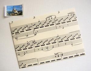 NOTEN ♫ ♥ toller Briefumschlag *upcycling* Musik - Handarbeit kaufen