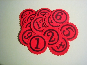 R*E*S*E*R*V*I*E*R*T für Barbara ♥ Adventskalender Zahlen 1 - 24