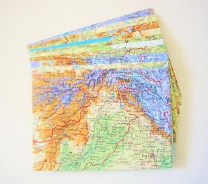 10er-Set Briefumschläge DIE WELT ♥ Landkarte *upcycling* - Handarbeit kaufen