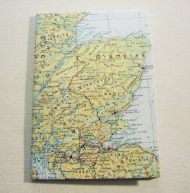 SCHOTTLAND Glasgow ♥ schönes Notizbuch Landkarte *vintage*