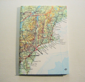 NEW YORK Amerika Ostküste ♥ schönes Notizbuch Landkarte *vintage*
